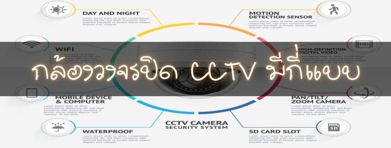 กล้องวงจรปิด cctv มีกี่แบบ